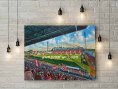county ground  canvas a3 size